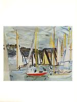 "1970 Vintage RAOUL DUFY ""HARBOR AT DEAUVILLE"" COLOR offset Lithograph"