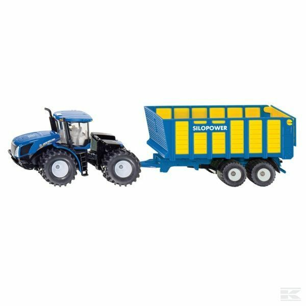Siku New Holland Tractor With Silage Trailer 1 50 Scale Model Gift Toy Present