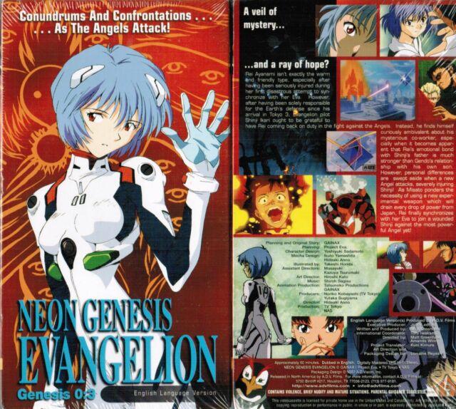 Neon Genesis Evangelion Vol 3 Anime VHS Video Tape New English Dubbed 03
