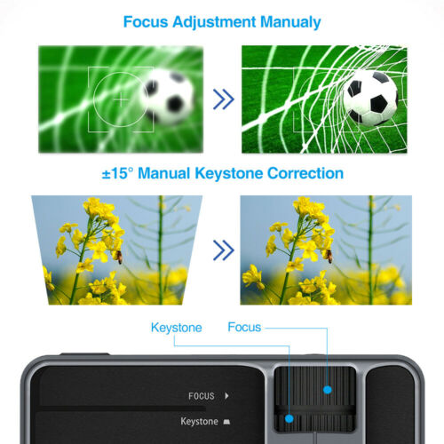 Portable HD Android WiFi Projector Bluetooth 1080P Video Home Theater HDMI USB