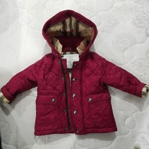 Details About Burberry Girls Quilted Jacket Baby