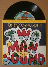 "7"" Two Man Sound Disco Samba Holland Ps Break Records 1985 Mint Disco"