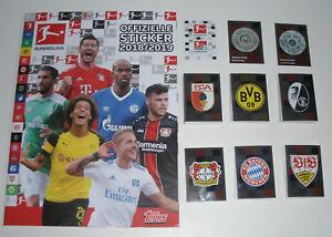 Topps-Bundesliga-Sticker-2018-2019-Sammelalbum-alle-294-Sticker-komplett-Set