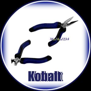 Details about KOBALT Mini Long Nose & Mini End Cutting Pliers - Lifetime  Warranty - Fast Ship