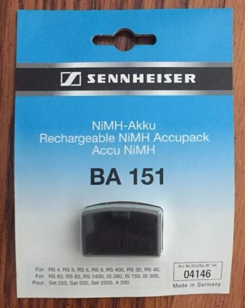 Genuine Sennheiser Accupack Ba 151 Nimh-akku Rechargeable Battery For Headphones