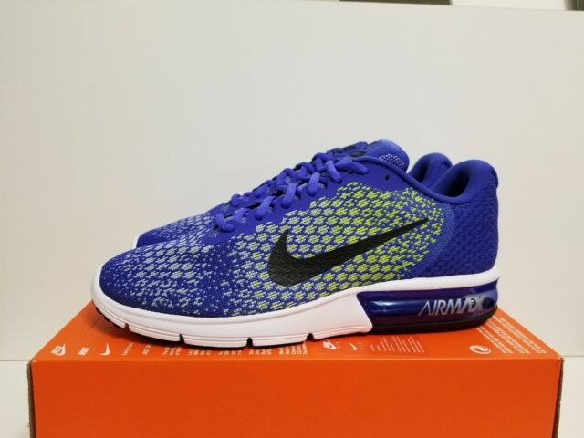 daeba938c36b2 NIKE AIR MAX SEQUENT 2 PARAMOUNT BLUE BLACK-VOLT 852461 401 NO LID ON
