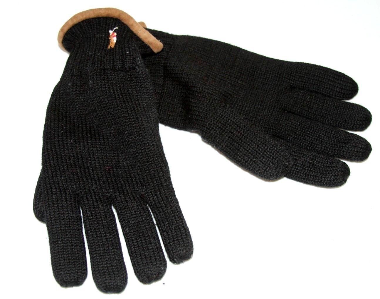 #15 Polo Ralph Lauren Para Hombres Clásico Lux la lana Merino Guantes Sz 0/S