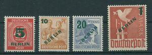Allemagne-Berlin-Vintage-1949-Mi-64-67-Neuf-MNH-Verifie-Plus-Boutique