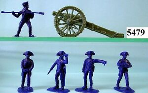 Armies-In-Plastic-5479-AWI-Royal-Regiment-Of-Artillery-Figures-Wargaming-kit