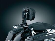 KURYAKYN BLACK & CHROME MULTI-PURPOSE DRIVER & PASSENGER BACK REST HARLEY FLH FL