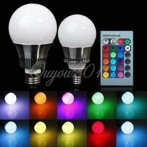 Color Changing Led Light Bulbs: Image is loading 5W-10W-E27-E14-RGB-LED-Light-Color-,Lighting