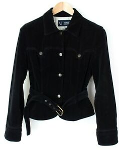hot sale online 2d72e af198 Dettagli su Armani Jeans da Donna con Colletto con Cintura Cappotto Giacca  Taglia 44 Mz557