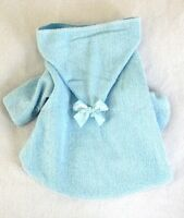 Xxxs Blue Terry Cloth Hooded Dog Bathrobe Clothes Pet Apparel Pc Dog®
