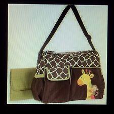 Baby Boom Duffle Diaper Bag Baby Gear Zebra Print Brown Green