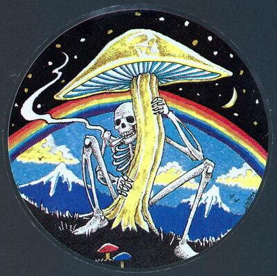 NEW Vintage Grateful Dead Skeletons Quarter Moon w// Stars Window Sticker Decal
