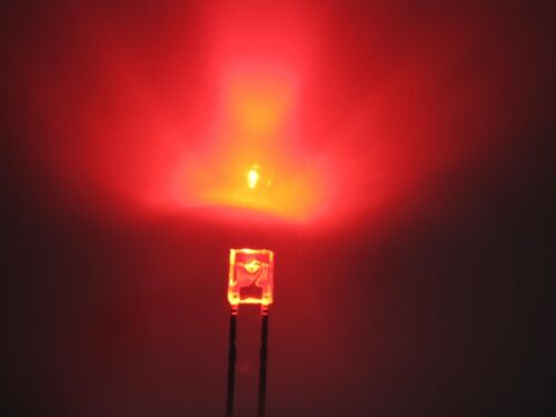 500pcs 2x3x4mm Red Yellow Blue Green White LED Water Clear Rectangle Leds New