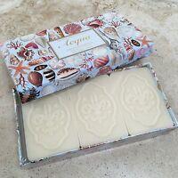 Fiorentino Soap Gift Box Set 3 Ocean Acqua Scented Bath Bar Italy Sea