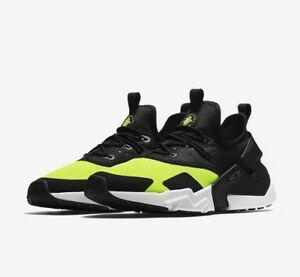 pretty nice 11c82 03a53 Image is loading New-Mens-Nike-Air-Huarache-Drift-Volt-Black-