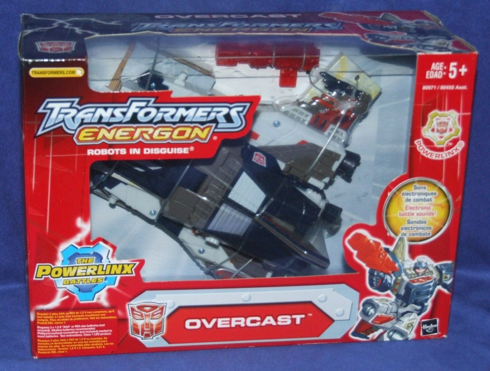 Transformers Energon Overcast Powerlinx Factory Sealed New Electronic Sound 2003