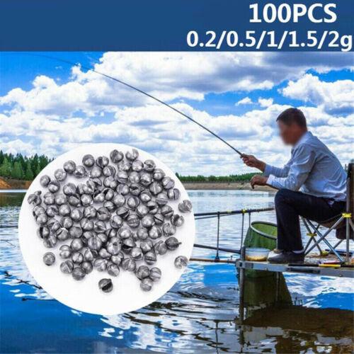 100PCS Fishing Sinker Set Round Split Lead Shot Sinker Bite Lead Weight Tackle
