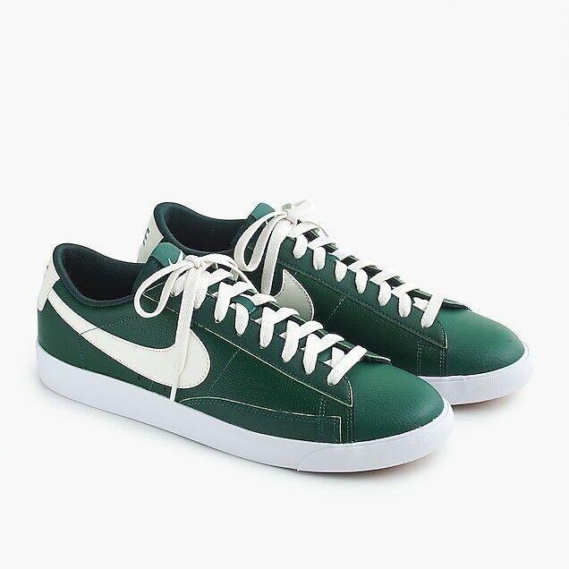 Nike    J. Crew  J0390 Men's Vintage Blazer Green White Leather Sneakers NWT 7M