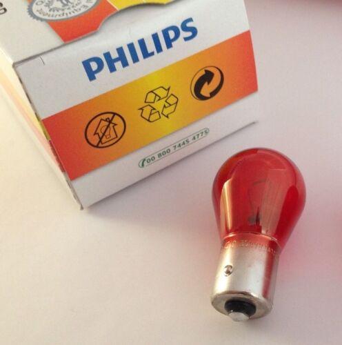 Philips Light Bulb PR21W 12V 21W BAW15s Red 12088CP 12088 CP Sphere Lamp Light