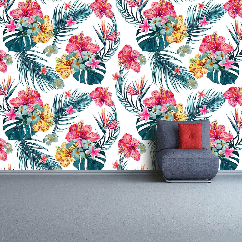 Fototapete Selbstklebend Einfach ablösbar Mehrfach klebbar Blumenmuster