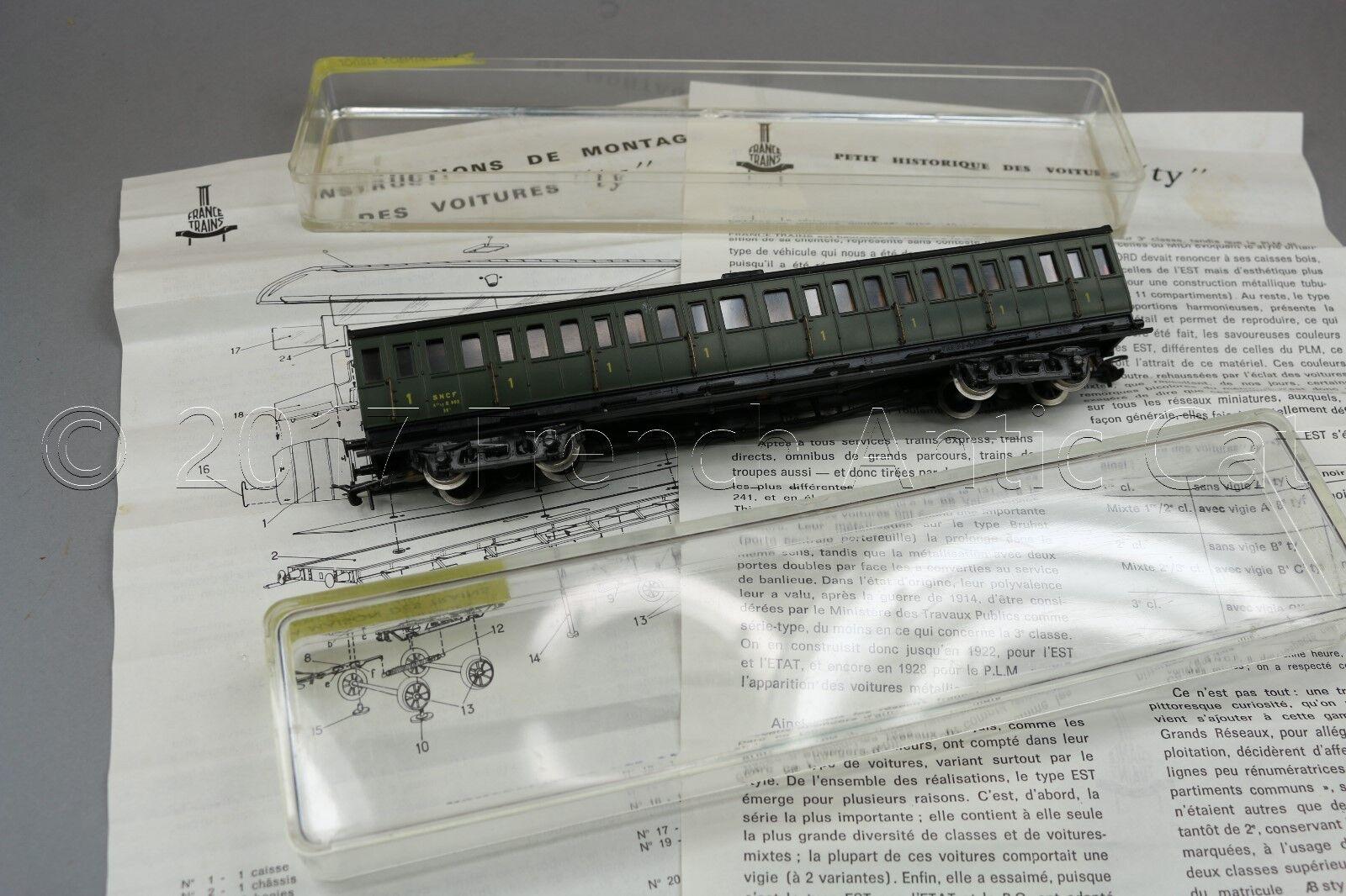 Y454 France Trains Ho 201 Coche Viajero Ty SNCF 1 Clase Original Es A7