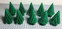 ☀️lego Green Large Pine Tree X10 Bulk Lot For Christmas (4x4x6 2/3)