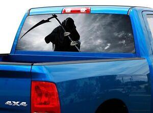 Grim Reaper Scytheman Death Rear Window Decal Sticker