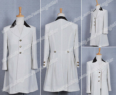 Stardust Cosplay Tristan Movie Costume White Trench Coat Satin Lined Well Made