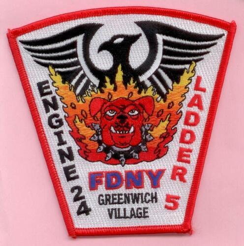 New York City Fire Dept Engine 24 Ladder 5 Patch Greenwich Village Phoenix