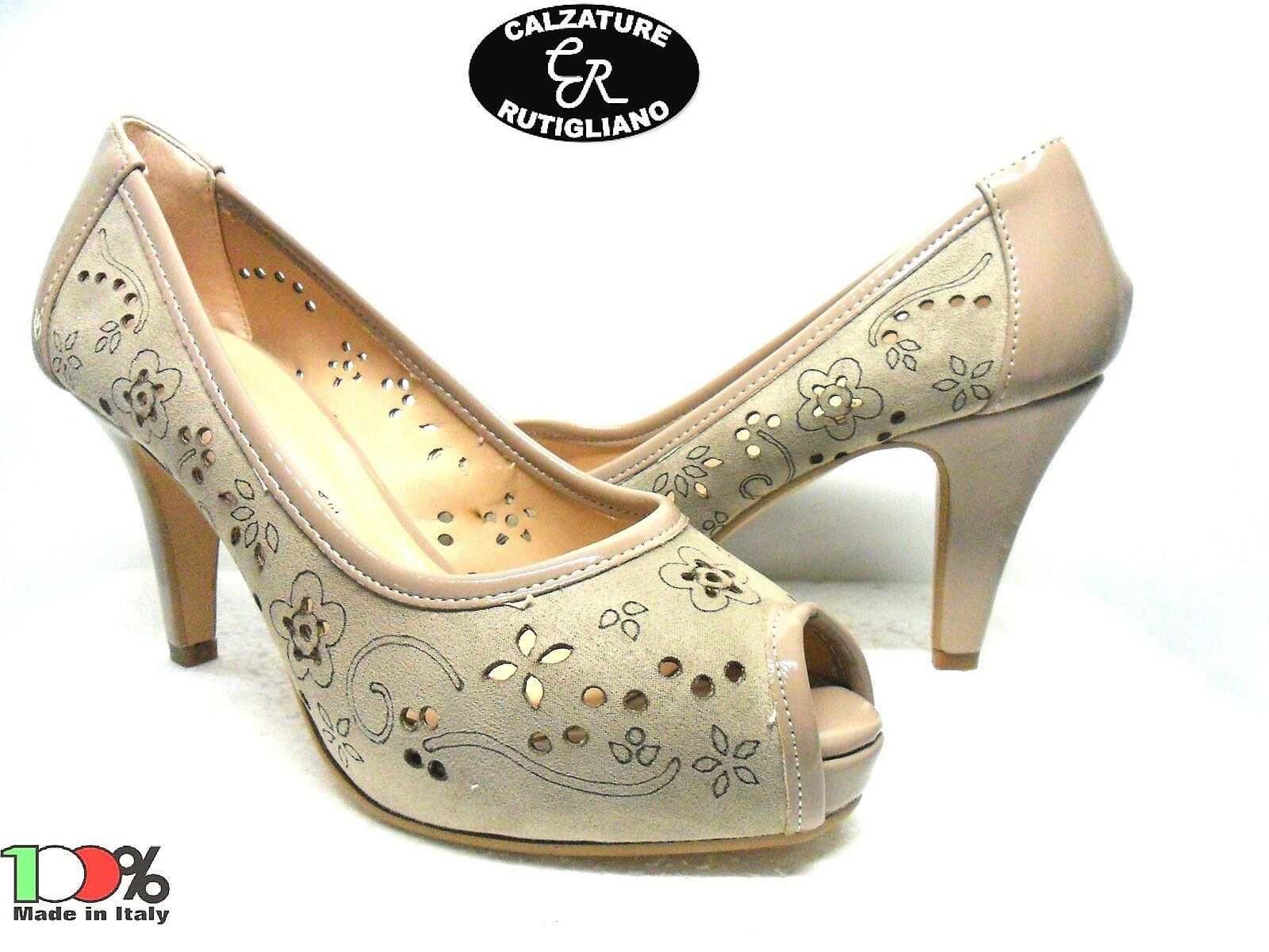 ONDE PIANE art.6712 chaussures femmes MODELLO DECOLTE' SPUNTATO MADE IN ITALY CORDA