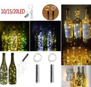 10-15-20-LED-Flaschenbeleuchtung-Korken-Lichterkette-Batteriebetrieb-Warmweiss