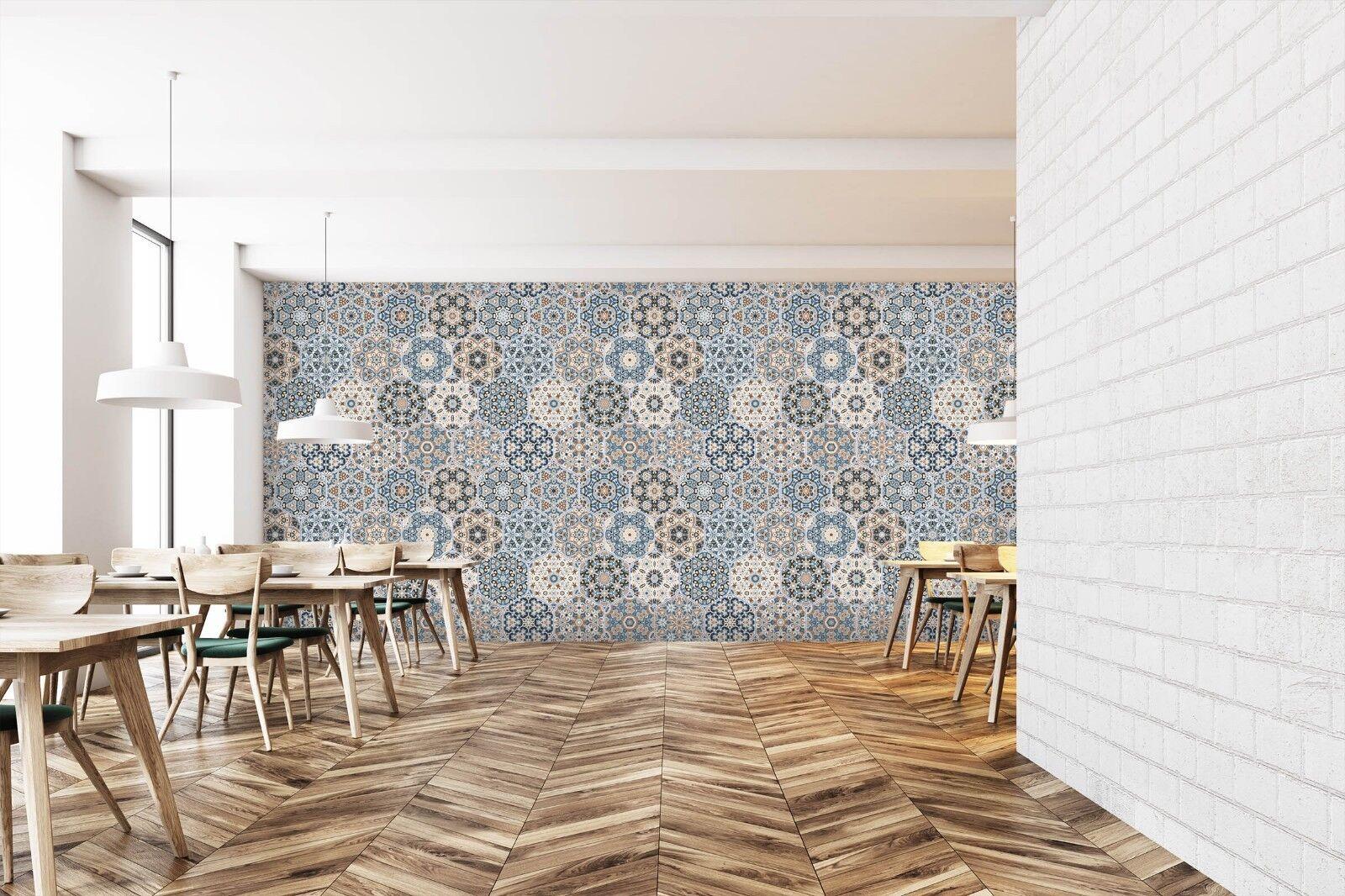 3D 3D 3D Round Flower Pattern 45 Texture Tiles Marble Wall Paper Decal Wallpaper Mural 196ecb
