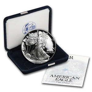 1994 P 1 Oz Proof Silver American Eagle Coin W Box Amp Coa