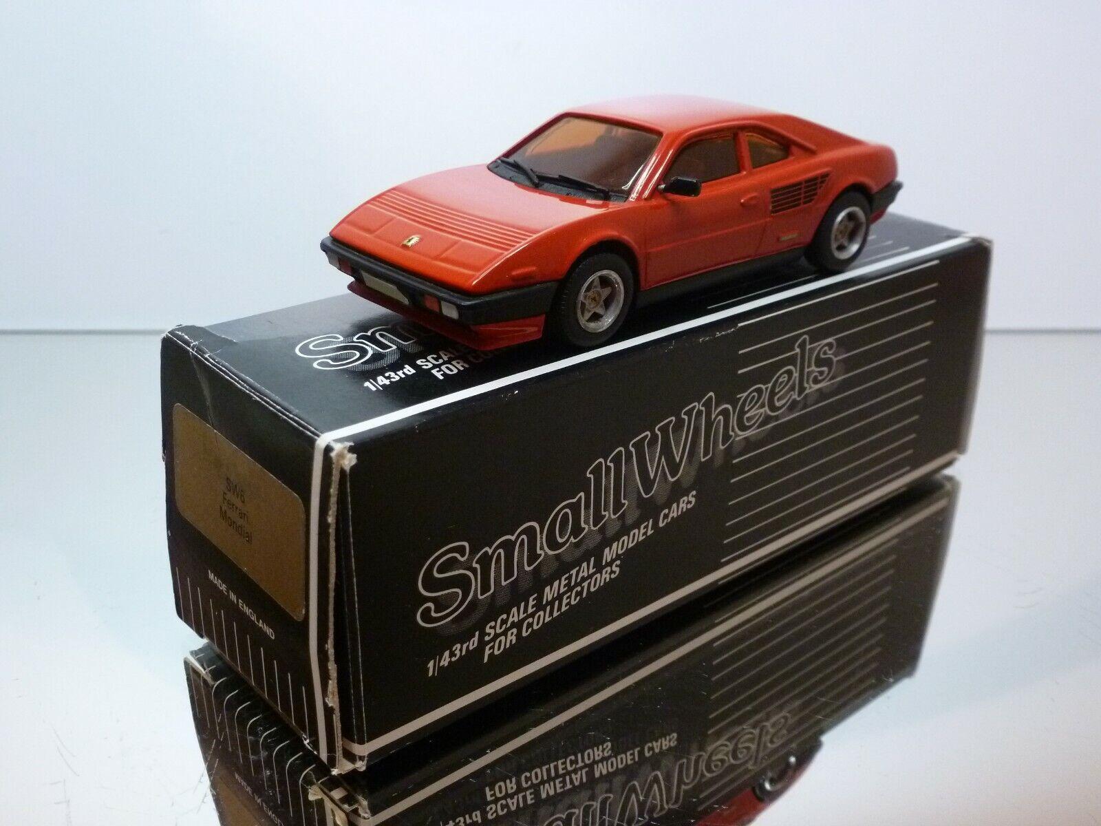 SMALL WHEELS WESTERN MODELS SW6 FERRARI MONDIAL - rojo 1 43 - VERY GOOD IN BOX