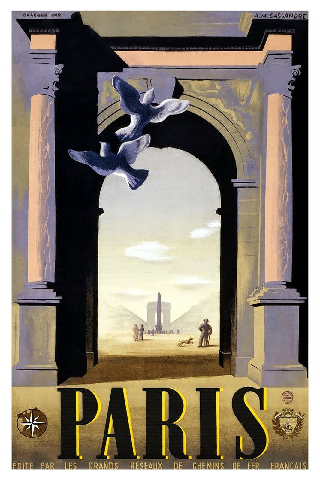 US Seller- unframed artwork for sale Paris vintage travel ads posters 5