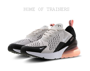 low priced 73d13 7aa26 Details about Nike Air Max 270 Platinum Tint Coral Kids Boys Girls Trainers  All Sizes