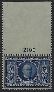 U.S. Stamps - Scott # 326 - Plate # Single - Mint OG Never Hinged        (Q-750)