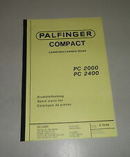 Teilekatalog / Spare Parts List Palfinger Krane PC 2000 / 2400 Stand 10/1983