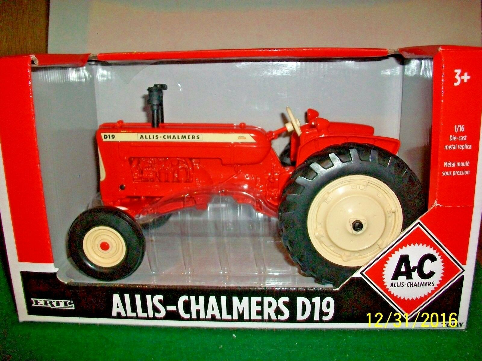 2016 Ertl Allis-Chalmers D-19 Model Tractor in 1 16 Scale