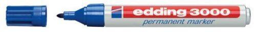 5 Stück Edding 3000 Permanent-Marker blau Rundspitze 1,5-3 mm Filzstift NEU