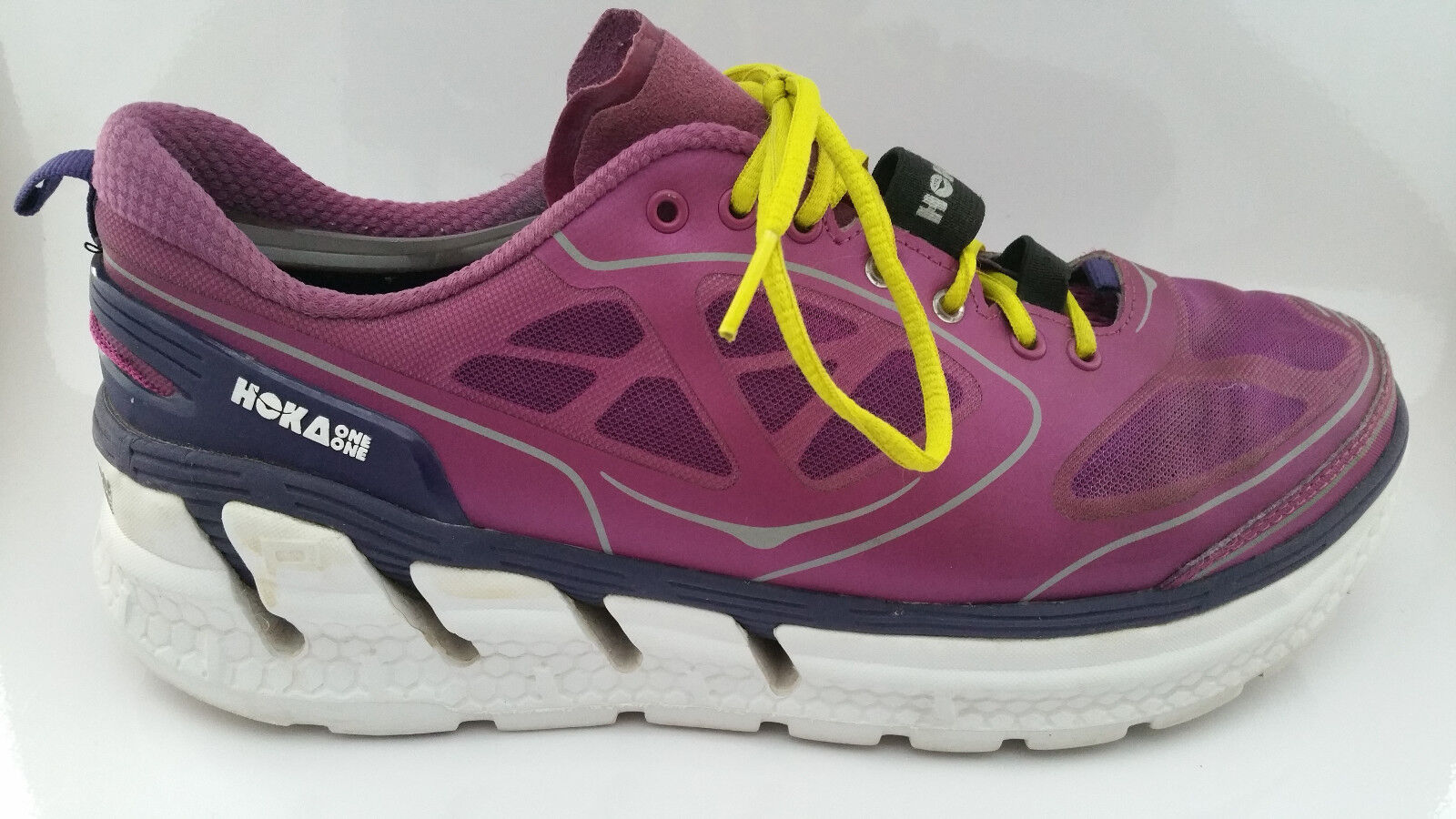 Hoka One One Conquest Damenschuhe 10 Running Athletic Schuhes Clover/Mulberry Purple