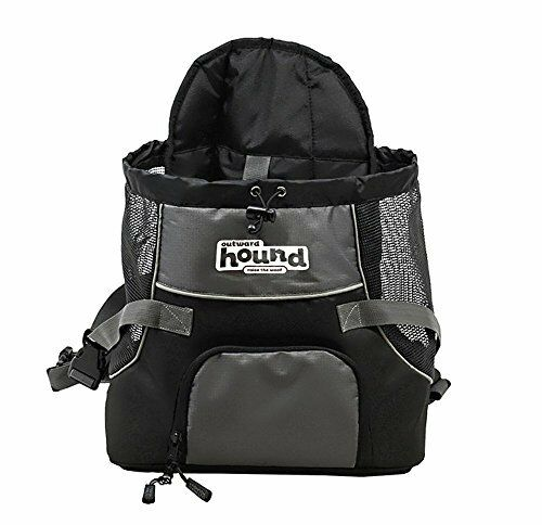 Poochpouch Dog Carrier Front Carrier for Small Dogs by Outward Hound Medium Grey