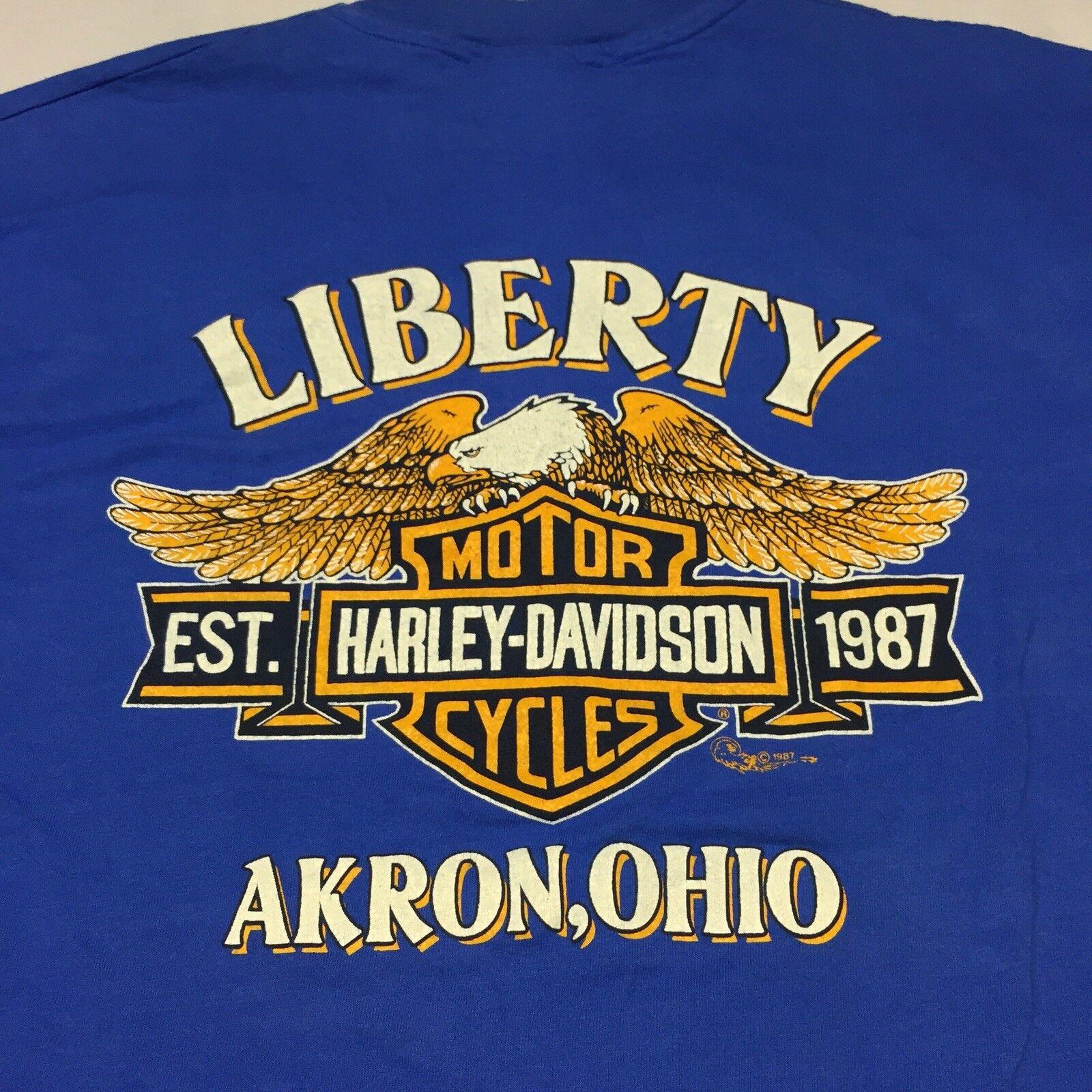 Vintage Harley Davidson Biker XL T-shirt Motorcycle Biker Davidson Soft Eagle 2-Sided motor USA 93d03d