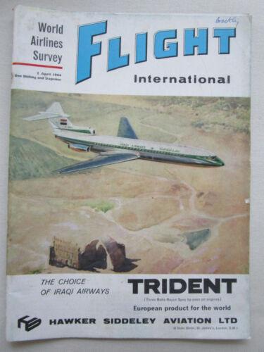 4//1964 PUB HAWKER SIDDELEY TRIDENT AIRLINER IRAQI AIRWAYS ORIGINAL COVER AD
