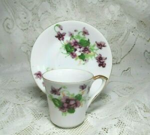 VINTAGE-NORCREST-FINE-CHINA-PURPLE-FLOWER-TEA-CUP-MADE-IN-JAPAN