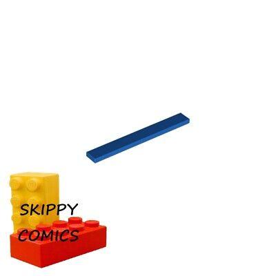 4x Tile plaque lisse 1x8 with Groove bleu moyen//medium blue 4162 NEUF Lego