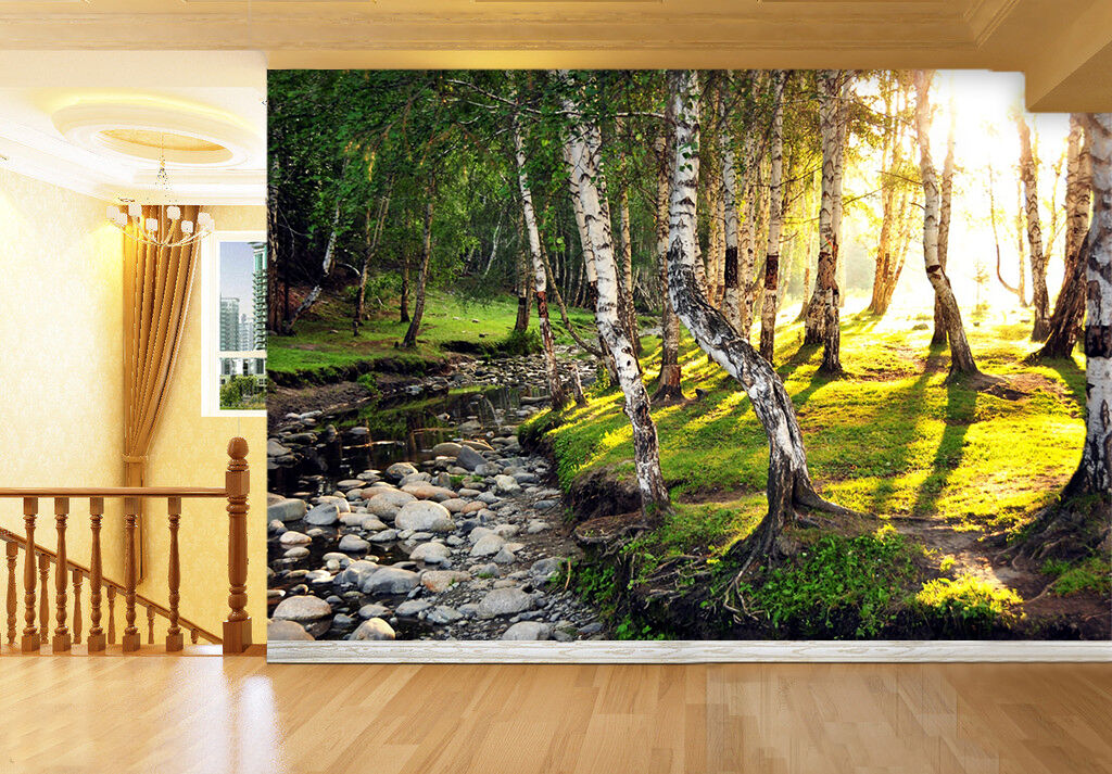 3D Forest Stony Stream 2305 Paper Wall Print Wall Decal Wall Deco Indoor Murals